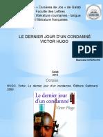 LE DERNIER JOUR D'UN CONDAMNÉ projet