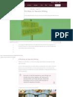 6 Plot Rules for Narrative Writing  Year 7  8 English