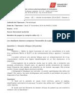2014-2015 - S1 - 4A- Parasitologie (1)