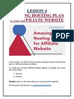 Amazing Hosting Plan for Affiliate Website