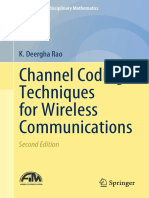 (Forum for Interdisciplinary Mathematics) K. Deergha Rao - Channel Coding Techniques for Wireless Communications-Springer Singapore (2019)