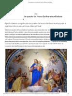 A importância do quadro de Nossa Senhora Auxiliadora