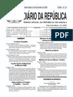 Decreto Presidencial nº 47-18, de Fevereiro, Regima Aplicável às Taxas, Licenças e Outras Receitas cobradas pelos Órgãos da Administração Local do Estado