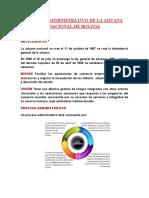 PROCESO ADMINISTRATIVO DE LA ADUANA NACIONAL DE BOLIVIA