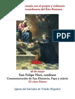 26 de Mayo. San Felipe Neri Opio y Ordinario