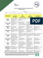 Descriptores de evaluación 5ta Feria de Matemática Local