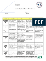 Descriptores de evaluación 6ta Feria de Matemática Local