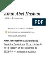 Amín Abel Hasbún.