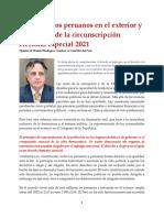 El Voto de Los Peruanos en El Exterior y La Creación de La Circunscripción Electoral Especial 2021