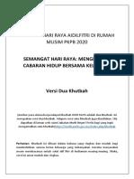 KHUTBAH HARI RAYA AIDILFITRI DI RUMAH MUSIM PKPB COVID 19 - VERSI DUA KHUTBAH-2