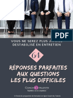 eBook CoachMyTalents 64 Reponses Aux Questions Les Plus Difficiles