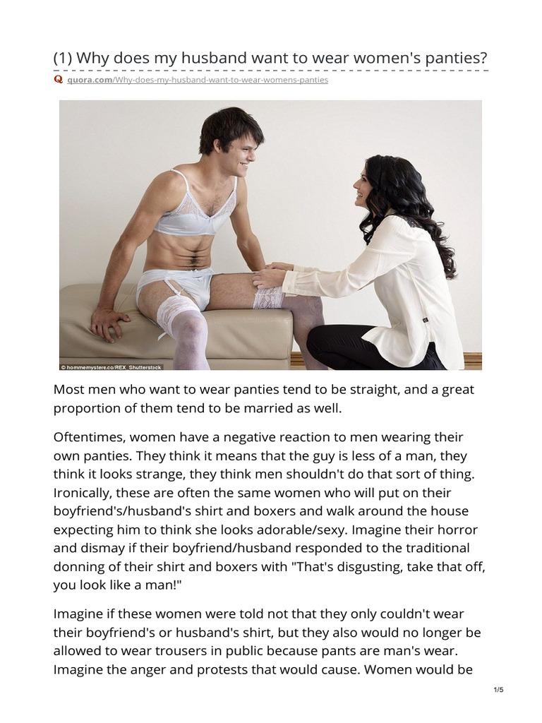 Wears panties boyfriend my Male, Married