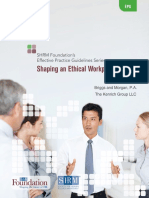 Ethical Workplace Culture