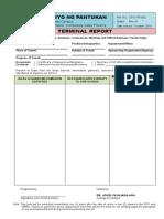 2 TERMINAL REPORT