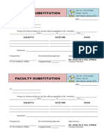 4 FACULTY SUBSTITUTION