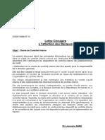 lettre circulaire_Charte de Contrôle Interne