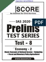 GS Score Prelims 2020 Test 8 Q freeupscmaterials.org