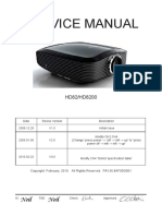Optoma HD82_HD8200 V3.0 (DDP 3021, 36.8AF05G001) Service Manual
