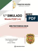 Simulado Missão PCDF IADES comentado no sistema Missão
