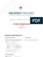 VC Backed M&A Snapshot Q4 2010
