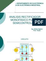 Analisis rectificador semicontrolado monofásico
