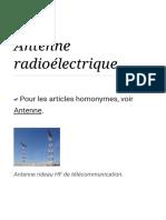 Antenne radioélectrique — Wikipédia