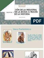 evolución de la industria textil a traves de la historia