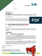 modelo cotizacion  bombas contraincendio  diesel , 500 GPM 140 PSI