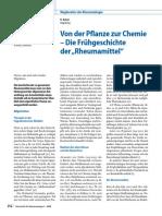 """Von der Pflanze zur Chemie – Die Frühgeschichte der """"Rheumamittel"""""""