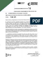 Instrucción Administrativa 14 de 2018 SNR