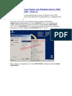 Implementando un Cluster con Windows Server 2003