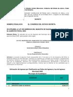 Ley de Ingresos del Municipio de Guadalajara, Jalisco para el ejercicio fiscal 2020 (1).doc