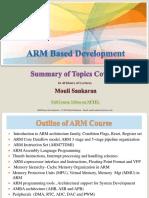 ARM Based Development Course Summary-MouliSankaran