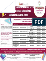 Programa de Becas Educativas ciclo escolar 2019-2020.