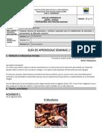 Guías Artes Periodo 2. Grados 10º y 11º Semanas 1 y 2 (1)