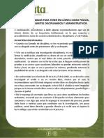 CONSEJOS PARA TENER EN CUENTA COMO POLICÍA, EN ALGUNOS TRÁMITES DISCIPLINARIOS Y ADMINISTRATIVOS