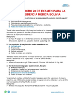 21. SIMULACRO DE EXAMEN PARA LA RESIDENCIA MÉDICA BOLIVIA_