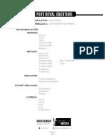 Port Royal Oberture Score