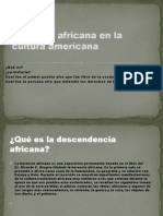 Herencia Africana en La Cultura Americana
