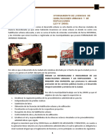 OTORGAMIENTO DE LICENCIAS  DE  HABILITACIONES URBANAS  Y  DE  EDIFICACIONES