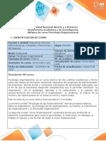 Syllabus del curso Psicología Organizacional (2)