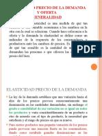 ELASTICIDAD PRECIO DE LA DEMANDA Y OFERTA