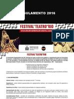 EDITAL FESTIVAL DE TEATRO DO RIO