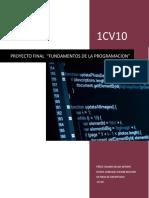 PROYECTO FINAL C++ fundamentos de la programacion