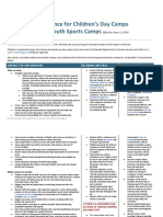 COVID-19 Guidance for Day and Youth Sports Camps 052420