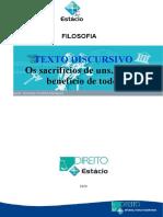 Estacio - trabalho - CCJ0386 - Filosofia - RH6111- 3