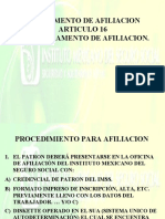 10.- Afiliacion y Salario Base de Cotizacion