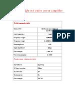 P400 Hi-fi Audio Amplifier