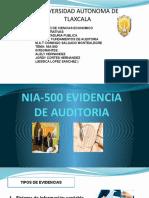 EXPO NIA-500 EVIDENCIA DE AUDITORIA