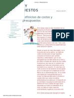 COSTOS Y PRESUPUESTOS1